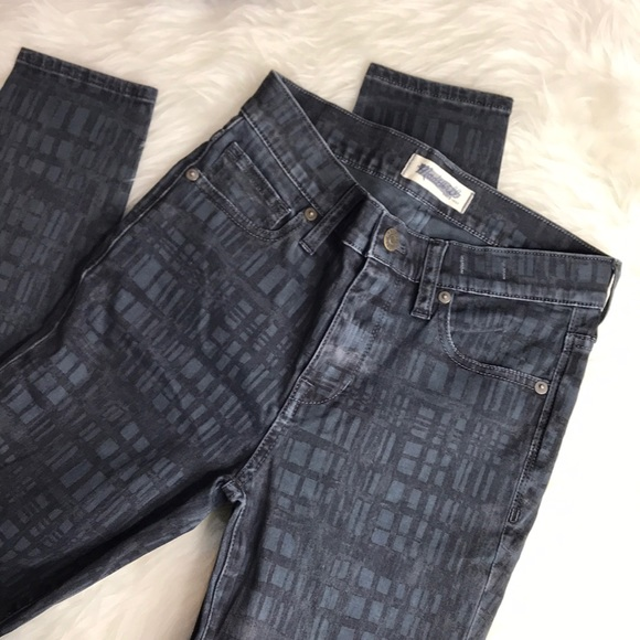 Madewell Denim - NWOT|{Madewell} High Riser Skinny w/ blue pattern